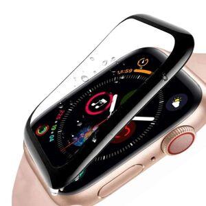 Apple Watch Panserglas Series 4 (40mm) - Full-Fit Skjermbeskyttelse - Svart Kant