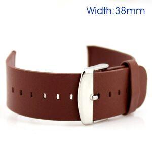 Apple Watch skinnrem i ægte skinn - Brun (38mm)