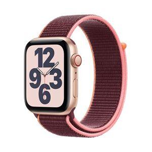 Apple Watch SE GPS + Cellular, 44mm Gold Aluminium Case with Plum Sport Loop