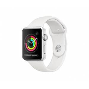 Apple Watch Series3 GPS, 42mm Silver Aluminium Case with White Sport Band
