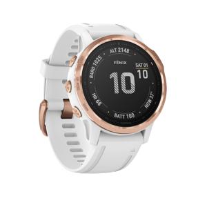 Garmin Fenix 6S Pro Rose Gold w/White Band, GPS-klokke med pulsmåling