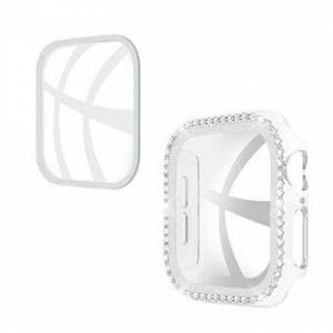 Rhinestone Decor PC-fodral för Apple Watch Series SE / 6/5/4 40MM med skärmskydd i härdat glas