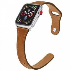 Äkta läder Smart Watchband för Apple Watch Series 6 / SE / 5/4 40mm / Series 3/2/1 Watch 38mm