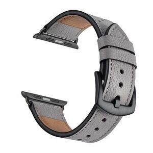 Crazy Horse Skin äkta läderklockarmband ersättning för Apple Watch Series 6 / SE / 5/4 40mm / Series 3/2/1 38mm
