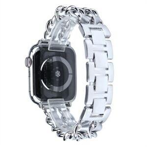 Metall + PU läder Smart Watch Band ersättning för Apple Watch Series 5/4/6 / SE 40mm / Series 1/2/3 38mm