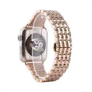 Armbandsur i aluminiumlegering Rhinestone Decor för Apple Watch Series 6 SE 5 4 44mm / Series 3/2/1 42mm