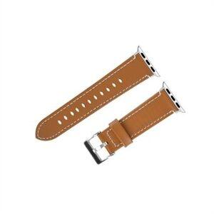 Klassisk spänne klockarmband i äkta läder för Apple Watch Series 6 / SE / 5/4 40mm / Series 3/2/1 Watch 38mm