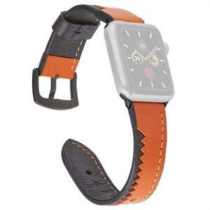 Äkta läder krokodil tänder stil klockarmband för Apple Watch Series 6 / SE / 5/4 40mm / Series 3/2/1 Watch 38mm