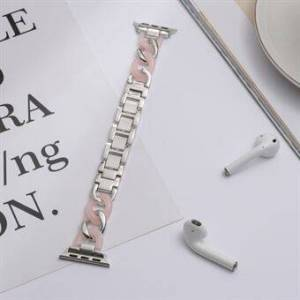 Apple Rostfritt Steel + hartsrembyte för Apple Watch SE / Series 6/5/4 40mm / Series 3/2/1 38mm Watch Band