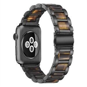 Starkt rostfritt Steel + hartsrem för Apple Watch SE / Series 6/5/4 44mm / Series 3/2/1 42mm Watch Band