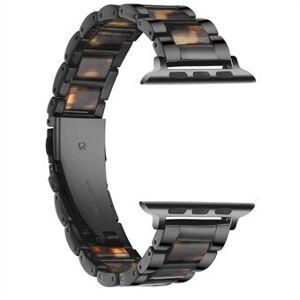 Starkt rostfritt Steel + hartsband för Apple Watch SE / Series 6/5/4 40mm / Series 3/2/1 38mm klockarmband
