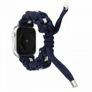 Woven Nylon + Watch Replacement Band för Apple Watch Series 6/5/4 / SE 44mm, Serie 3/2/1 42mm