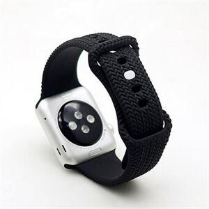 Silikon Smart Watch Band Armband för Apple Watch Series 3 38mm / 4 40mm / 5 40mm / 6 40mm / SE 40mm