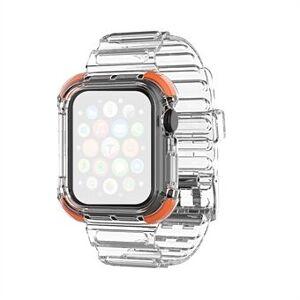 Color Splicing Clear TPU Smart Watch Ersättningsrem för Apple Watch Series 6/5/4 / SE 44mm / Series 3/2/1 42mm