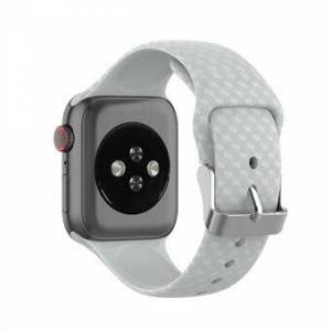3D Diamond Texture Silicone Watch Strap for Apple Watch Series 6 SE 5 4 44mm / Series 3 2 1 42mm