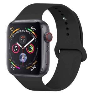 SERO Armband För Apple Watch I Silikon, 42/44mm, Svart