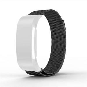 Armband Meshlänk Fitbit Carge2 L Svart