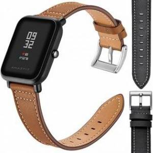 Xiaomi smartwatches Xiaomi Amazfit Bip Armband i läder 20mm - Svart