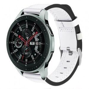 Samsung Klockarmband äkta läder Samsung Galaxy Watch 46mm - Vit