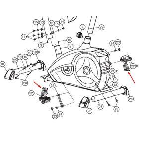 Christopeit Sport Rem till pedal AL2 1 par
