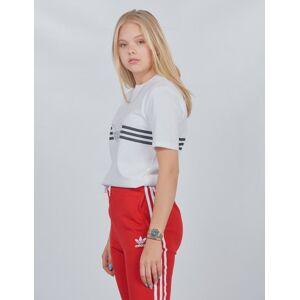 Adidas Originals , OUTLINE TEE, Hvit, T-shirt/Singlet för Jente, 152 cm