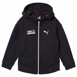 Puma Black Branded Sweat Jacket 9-10 years