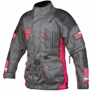 Booster Candid-Y motorsykkel barn tekstil jakke Svart Rosa S 152