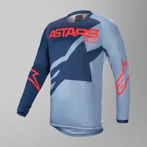 Alpinestars Racer Braap Crosströja Barn Powder-Blå-Röd