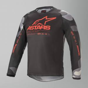 Alpinestars Racer Tactical Crosströja Barn Grå-Camo-Röd