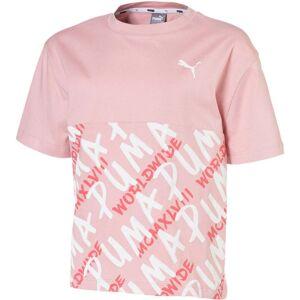 Puma Alpha Aop T-Shirt, Pink 140