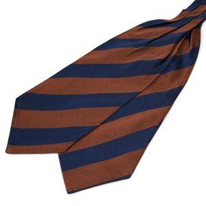 Trendhim Silkekravat med Marineblå og Brune Striber