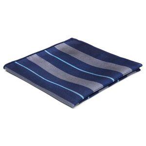 Trendhim Silkelommeklud med Marineblå, Lyseblå og Grå Striber