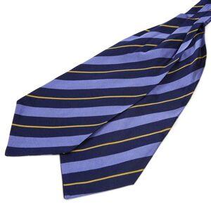 Trendhim Silkekravat med Marineblå-, Pastelblå- og Guldstriber