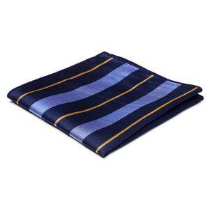 Trendhim Silkelommeklud med Marineblå, Pastelblå og Guldfarvede Striber