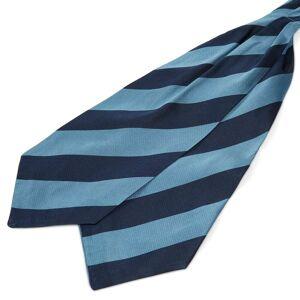 Trendhim Silkekravat med Blå og Marineblå Striber
