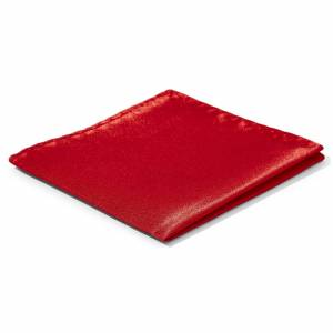 Trendhim Skinnende Rød Enkel Lommeklud