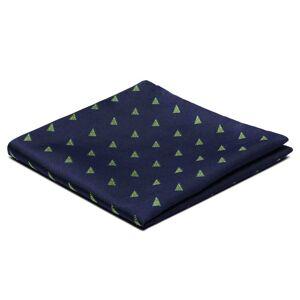 Trendhim Marineblå Lommeklud m. Juletræer
