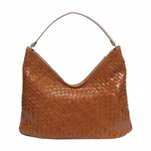Adax Mindy Cognac Bacoli Shoulder Bag (Brun)