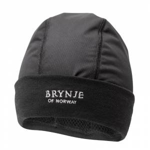 BRYNJE Arctic Hat with Wind-Cover Sort Sort S