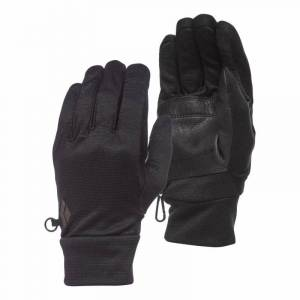 Black Diamond MidWeight WoolTech Gloves Sort Sort L