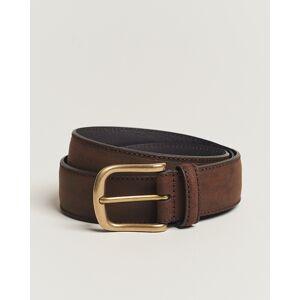 Crockett & Jones 3,5 cm Belt Dk Brown Rough-Out Suede men W34 Brun