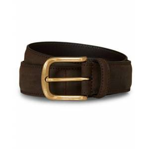 Crockett & Jones 3,5 cm Belt Dk Brown Rough-Out Suede men W36 Brun