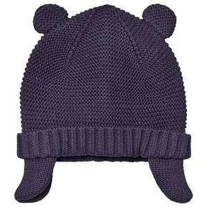 Absorba Knit Hat with Ears Navy Beanies