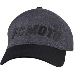 FC-Moto Headers CapMusta Harmaa