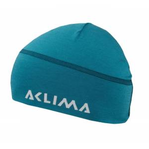Aclima Lightwool beanie lue Harbor Blue