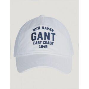 Gant , TWILL CAP, Hvit, Kapser og skyggeluer för Unisex, One size
