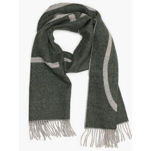 Gant D1. Logo Wool Scarf Skjerf og sjal Green