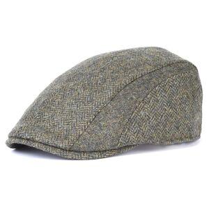 Barbour Herringbone Tweed Cap Grønn