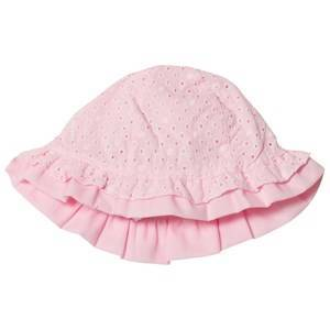 Mayoral Pale Pink Broderie Anglaise Bow Sun Hat 12 months
