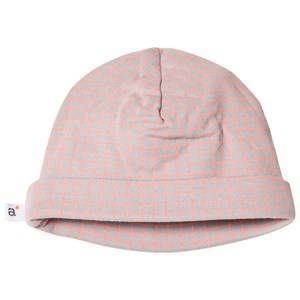 Absorba Grey and Pink Check Hat 44 (6-9 months)